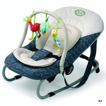 Креслице-качалка, детский шезлонг Chicco Relax&Play с игрушкой