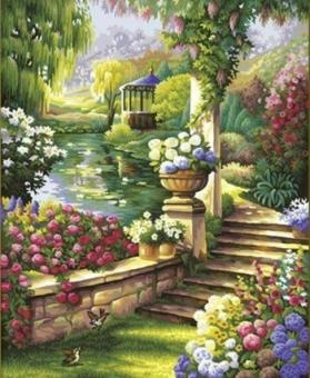 Раскраска по номерам. Райский сад 40х50 см