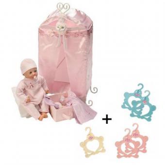 Шкафчик металлический + вешалки в подарок для куклы Baby Annabell