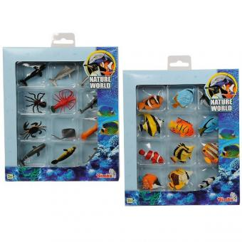 Набор Nature World Рыбы и морские животные,  12 шт, 5-6 см, 2 вида