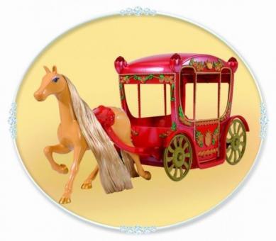 Карета Белоснежки с конем