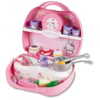 Кухня Hello Kitty в чемоданчике + 20акс.