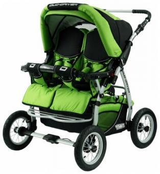 Детская коляска для двойни Tako Duo Driver (дуо драйвер) Green  Green