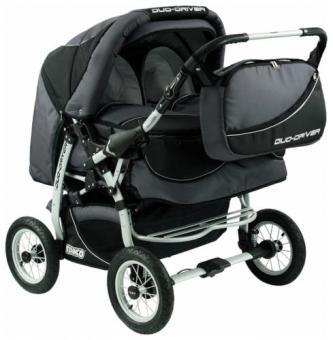 Детская коляска для двойни Tako Duo Driver (дуо драйвер) Grey  Grey
