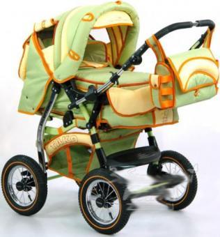 Детская коляска-трансформер Tako Natalia P,PR светло-зеленый